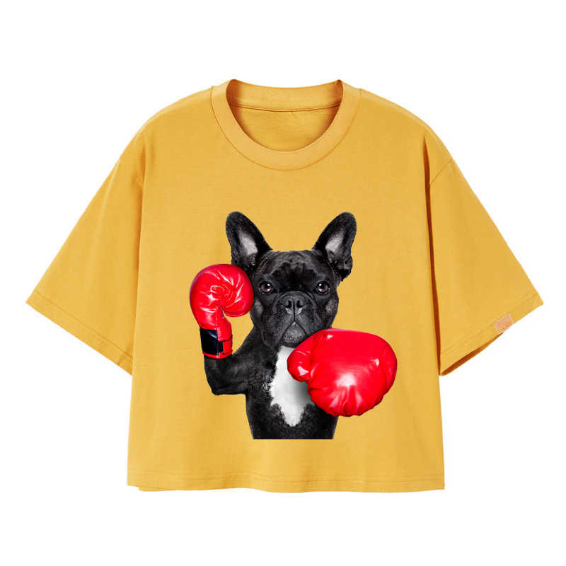 ที่กำหนดเอง Iron-ON Transfer สุนัขมวยถุงมือความร้อนเหล็กบนสติกเกอร์ DIY อุปกรณ์เสริม Applique เสื้อผ้า