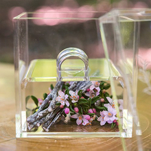 Buy Storage Box Clear Ring Holder Crystal Acrylic Ring Box High Quality China Made Without Flowers Gift Box directly from merchant!