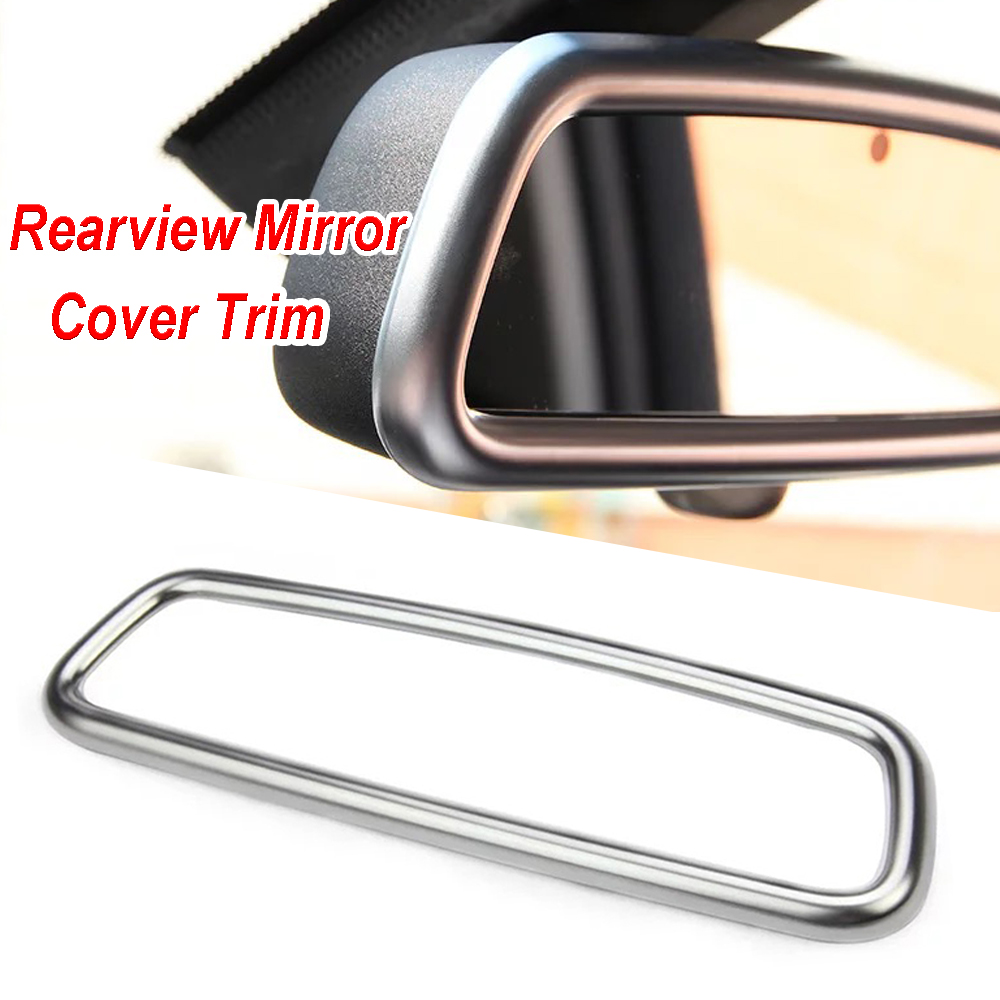 1x New Car Interior Rear View Mirror Cover Trim <font><b>Frame</b></font> for Land Rover Range Rover Sport Evoque Discovery 4 <font><b>Volvo</b></font> XC60 V60 S40 <font><b>S60</b></font> image