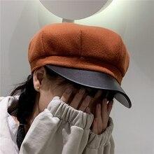 Octagonal Hats Gatsby-Caps Painter Newsboy Autumn Fashion Women Ladies for Casual Stylish
