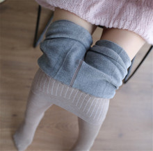 High Waist Leggings Fleece Lined Super Warm Winter Pants Vertical Stripe for Any Dress women girls Outwear for cold weather