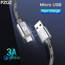 PZOZ Micro Usb кабель для быстрой зарядки для samsung Galaxy Xiaomi Android мобильных телефонов Зарядное устройство Microusb шнур провод короткий адаптер 2a