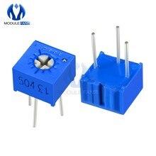 Potenciômetro aparador 3362p, resistor variável, cercado, aparador, 100r 200r 500r 1k 2k 5k 10, 10 peças k 20k 50k 100k 200k 500k 1m ohm