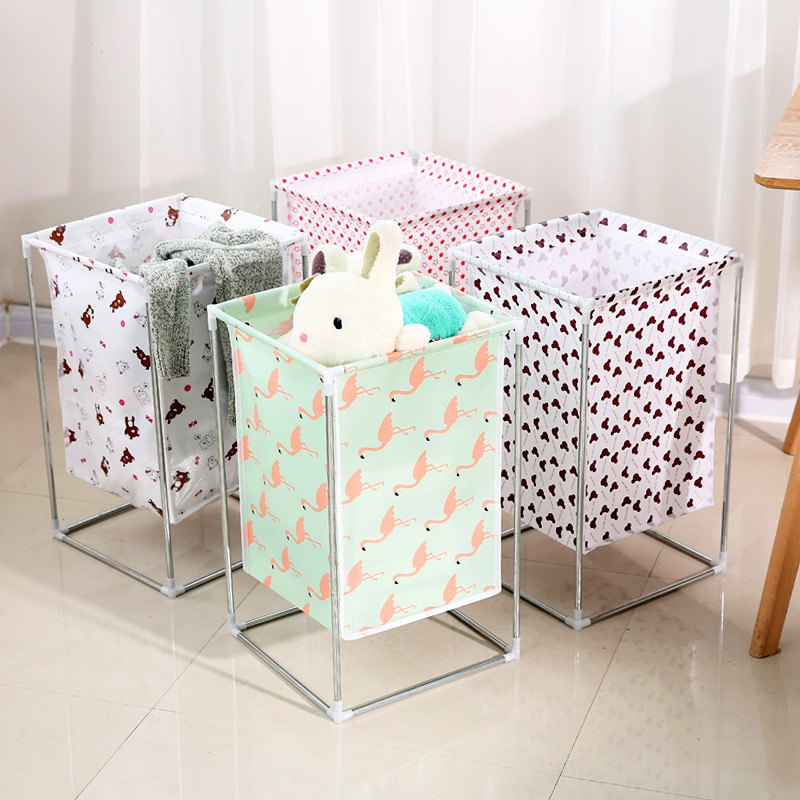 Large Foldable Laundry Basket Waterproof Bathroom Dirty Clothes Storage Basket Home Sundries Kids Toy Organizer 54*33*33cm New
