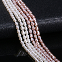 Natural Freshwater Cultured Baroque Pearls 2.5-3mm Small Loose Beads for Making DIY Barcelet Necklace Jewelry 13 Inches