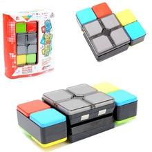 Горячая Распродажа, обучающая игрушка, музыкальный гибкий Кубик Рубика, сияющий звук, Кубик Рубика, машина для родителей и детей