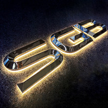 3D Channal Letter Sign Led Outdoor Custom Metal Letter Sign Stainless Steel 3D Sign Letter