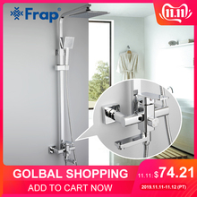 Frap Tap Shower-Faucet-Set Mixer Hand-Sprayer Wall-Mounted Bath Rainfall F2420 Single-Handle