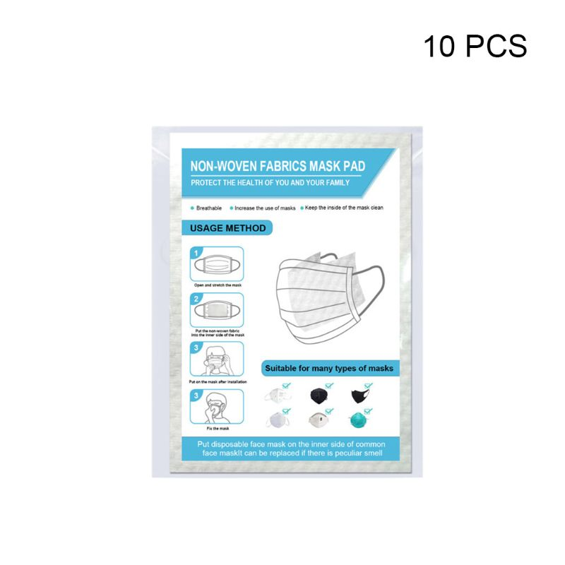 10/20/50/100Pcs Disposable Non-Woven Mask Pad Breathable Respirator Filter Replacement Gasket Cushion