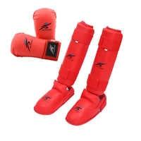 Taekwondo Ausrüstung MMA Anzug Boxen Handschuhe Set Bein Shin Schutz Hand Palm Fuß Schutz Männer Bands Karate Unisex Erwachsene Kind