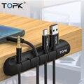 TOPK Cable Organizer силиконовый USB Cable Winder аккуратный протектор кабель управление зажимы держатель кабеля для наушники в форме мыши провода