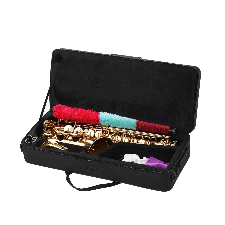Muslady Golden Eb Altsaxofoon Sax Messing Body Wit Shell Toetsen Houtblazers Instrument Met Carry Case Handschoenen Reinigingsdoekje Borstel - 6