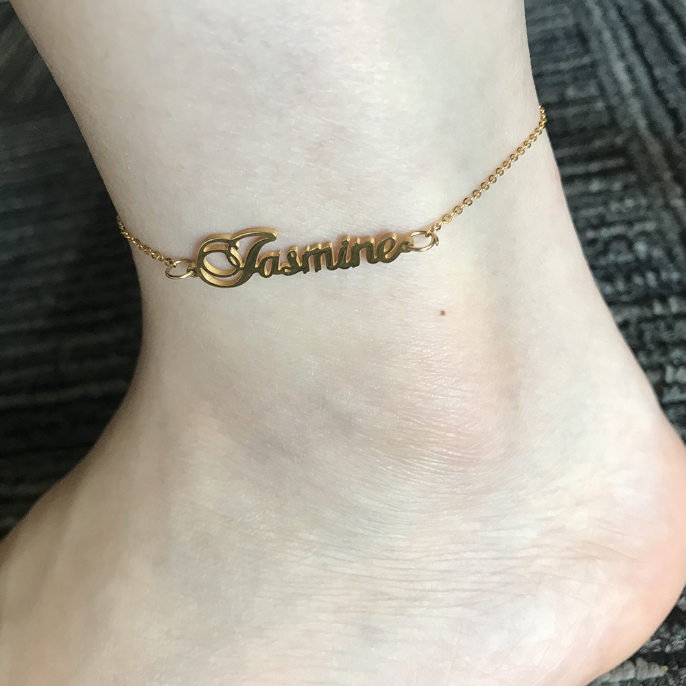 Sipuris Unique Custom Name Anklet Stainless Steel Customized Anklet for Women Jewelry Gifts Personality Letter Ankle Bracelet