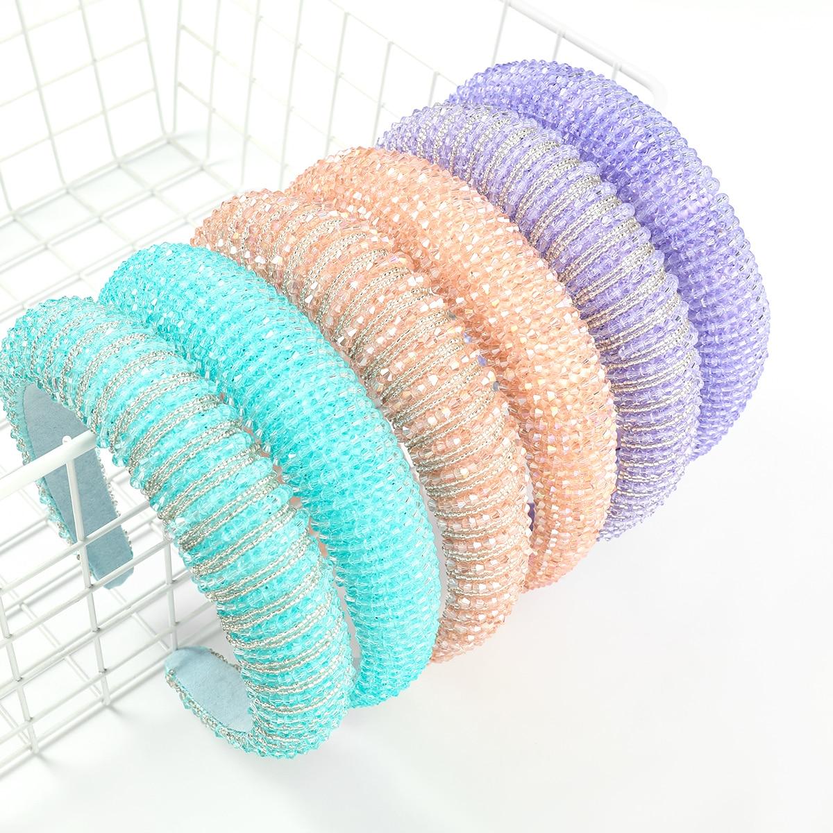 Accessoires pour cheveux en perles de riz en acrylique, bandeau pour dames, Simple, tempérament, magnifique, à la mode, nouvelle collection printemps 2021