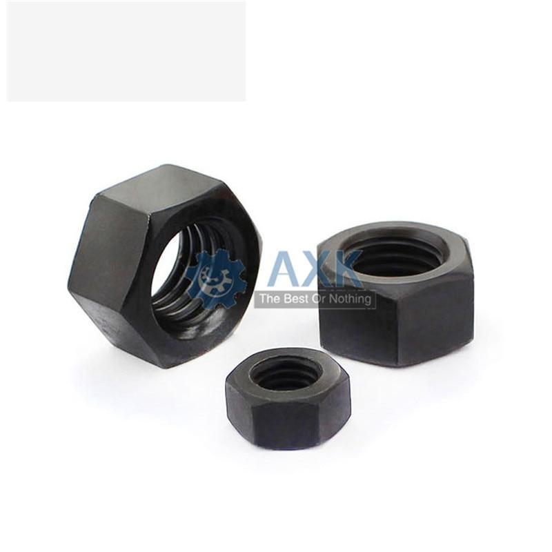 50Pcs DIN934 M2 M2.5 M3 M4 M5 M6 M8 Black Nylon Hex Nut Hexagon Plastic Nuts