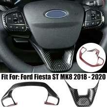 2 шт., молдинги на руль автомобиля для Ford Fiesta ST MK8 2018 - 2020
