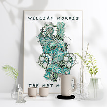 Affiche rétro d'exposition du musée Victoria et William Morris, imprimés artistiques anglais motifs de plantes, Nouveau décor mural pour la maison