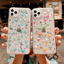 3D Glitter Crystal Phone Case For iPhone 11Pro Max Case XS Max XR XS X 8 7 6S Plus Luxury Diamond Sequins Transparent Soft Cover luxury 3d diamond print cell phone case for iphone 6s 7 8 plus xr xs max crystal holder for samsung galaxy s9 s10 note 8 9 cover