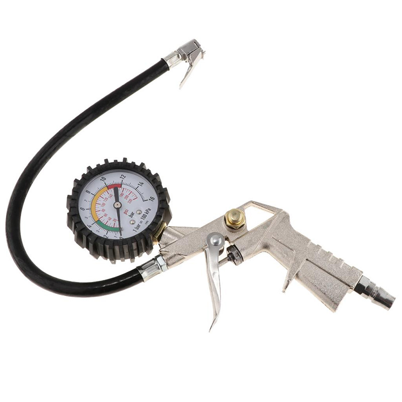 Auto Tire Pressure Gauge Pressure Gun Type For Air Compressor For Car Motorcycle SUV Inflator Pumps Tire Repair Tools