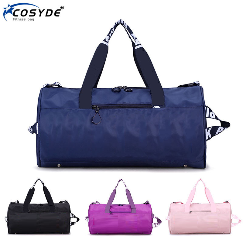 2020 Women Sports Bag Nylon Ladies Fitness Bag For Gym Brand Pink Duffle Bag Man Workout Training Bag Large Travel Bag Organizer