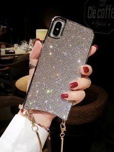 Image 5 - Custodia a tracolla con diamanti scintillanti scintillanti di lusso per iPhone 12 11 PRO XS MAX XR 8 plus Samsung S10 plus con catena lunga