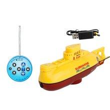 цена на Mini Submarine 3314 Radio Control Submarine Racing Boat Universal Rc Toys For Children Portable Children RC Speedboat Model