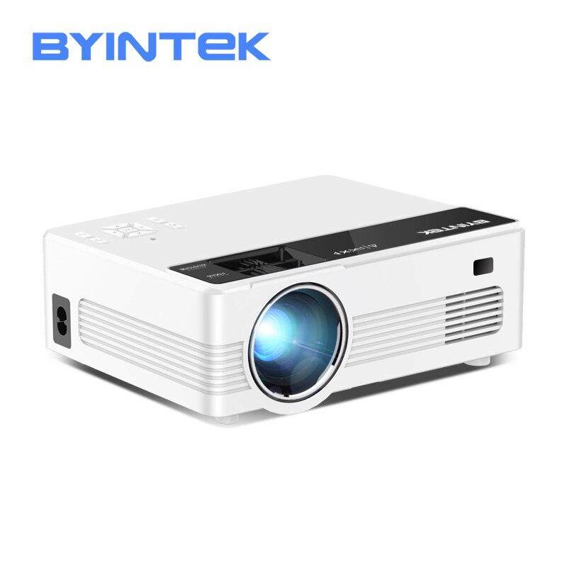 BYINTEK-miniproyector LED portátil C520 para cine en casa, HD, vídeo de cine en casa de 150 pulgadas, LCD, 1080P, 3D, 4K, Android 10, TV Box