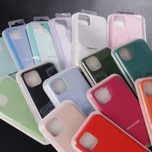 Oficial caso líquido original para iphone 11 12 pro max se 2020 silicone capa para iphone xr xs max x 6s 7 8 plus com caixa caso