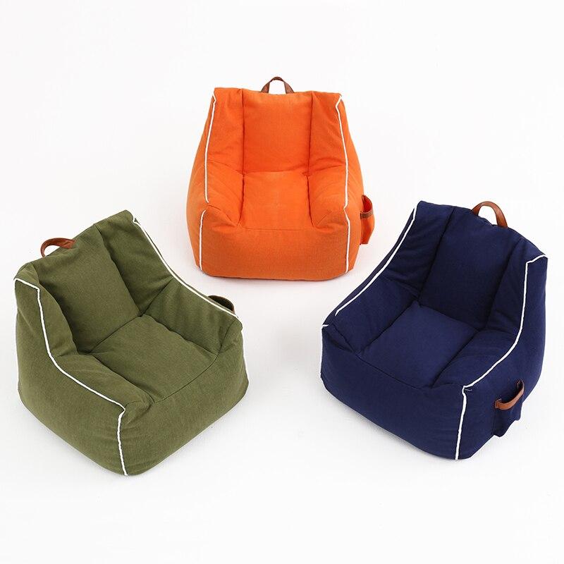 Children's Sofa Baby Lazy Bean Bag Boy Girl Princess Fashion Creative Fabric Sofa Chair Kid Chairs Furniture Round Bed