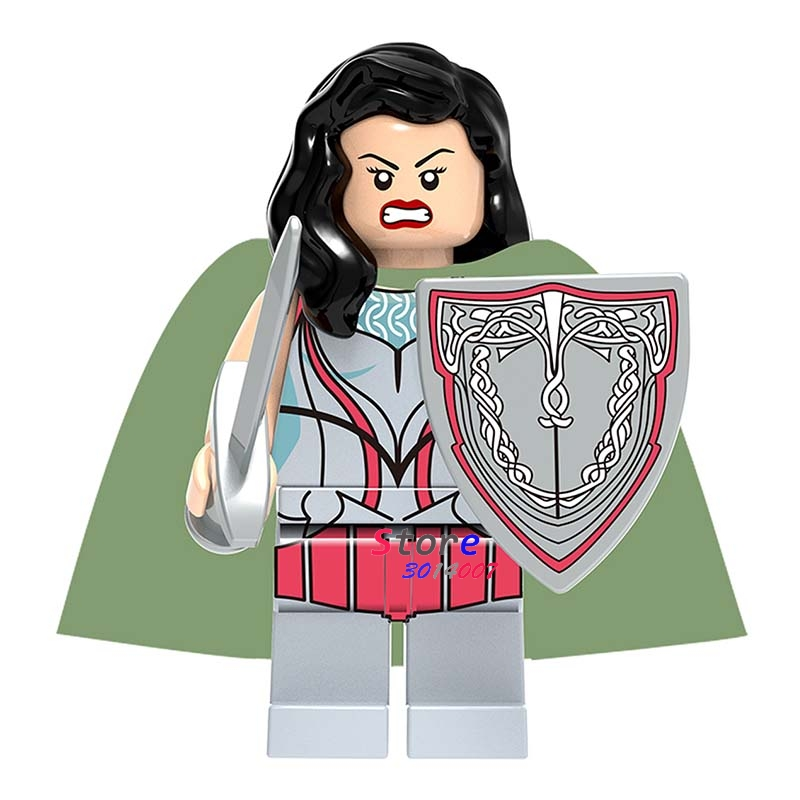 Single Super Heroes Marvel Dc Comics Building Blocks Models Bricks Thor Ragnarok Lady Sif Asgard Toys For Children Kits