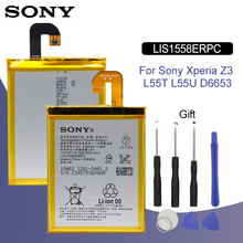 SONY Original LIS1558ERPC Phone Battery 3100mAh For Sony Xperia Z3 L55T L55U D6653 D6603 D6633 D5803 D5833 D6616 D6708 Batteria