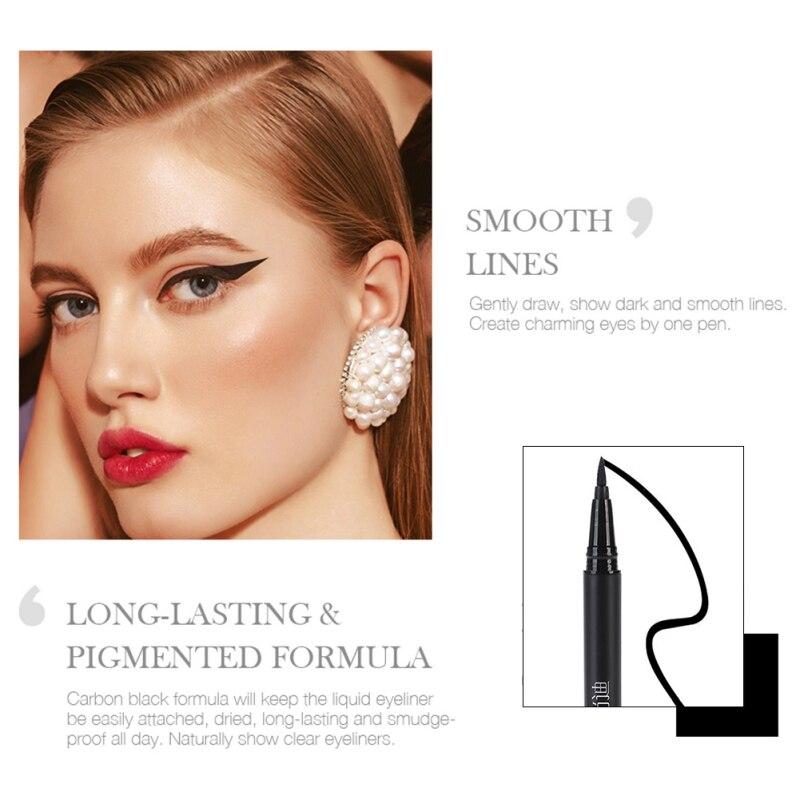 Magic Black Long Lasting Eye Liner Pencil Waterproof Eyeliner Quick Drying Cosmetic Beauty Makeup Liquid in Eyeliner from Beauty Health