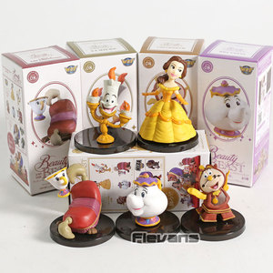 Image 5 - WCF personnages classiques Vol.4 la Belle et la bête Belle Mini figurines à collectionner en PVC jouets 5 pièces/ensemble