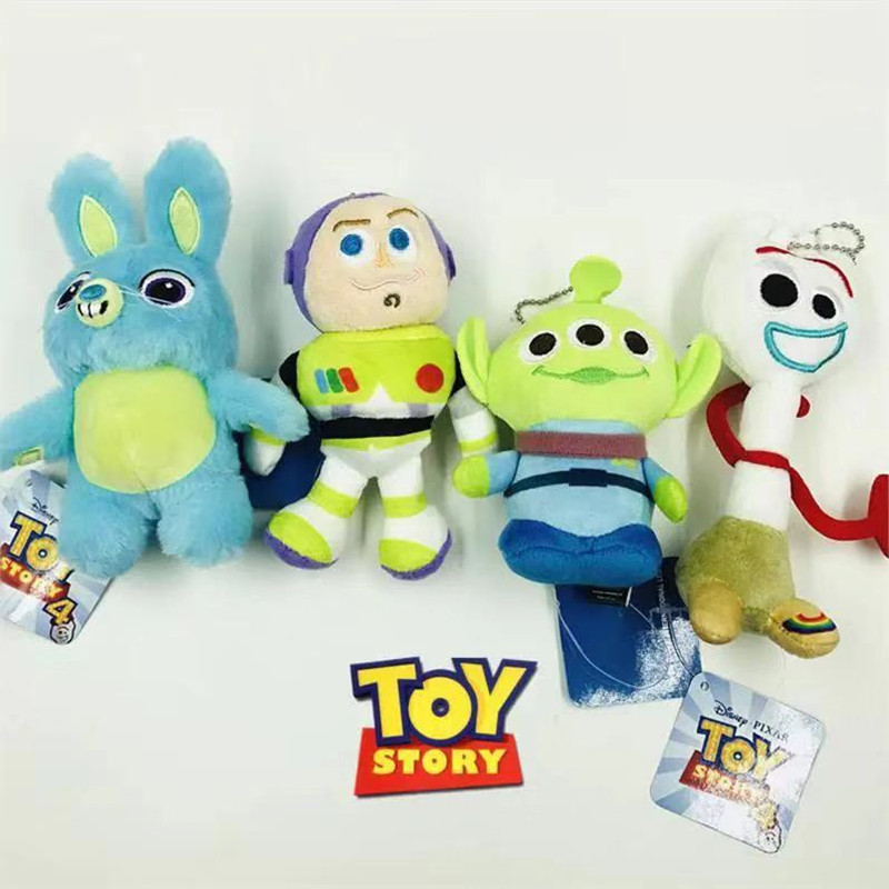 Disney Pixar Movie Toy Story 4 Plush Forky Woody Bunny Alien Buzz Lightyear Potato Head Stuffed Plush Doll Toy Keychain For Kids