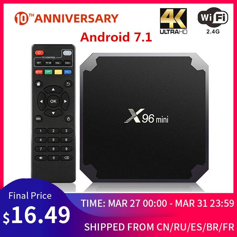 X96 Mini Android TV BOX X96mini Android 7.1 Smart TV Box 2GB 16GB Amlogic S905W Quad Core 2.4GHz WiFi Android 9.0 1GB 8GB