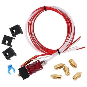 Zmontowany zestaw wytłaczarki Mk10 gorący koniec części zamienne do Creality Cr-10 Cr-10S S4 S5 drukarka 3D, 1.75Mm żarnik, 0.4Mm N