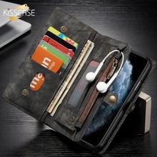 財布電話ケースA51 Note20超A50 A71 S8カバーS9 S20超A70サムスンS10ケース革電話の袋ジッパー