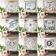Tapices de Tarot, tapiz colgante de luna y estrella del sol, tapiz Hippie para colgar en la pared, Alfombra de Yoga, decoración del hogar