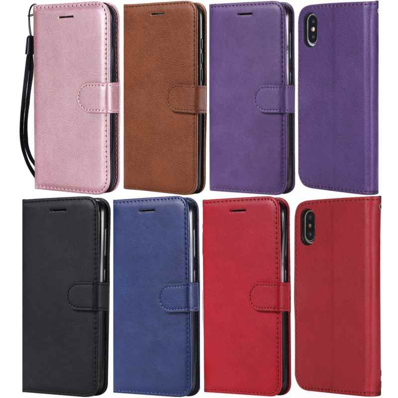 2019 Capa Voor iPhone 11 Pro Max Lederen Telefoon Case Voor apple X XS Max XR 7 8 Plus 6 6S 5 5S SE Man Dame Wallet Stand Covers D06F