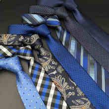 """Аксессуары синий галстук-бабочка модные галстуки для мужчин Удлиненные 6"""" бизнес"""