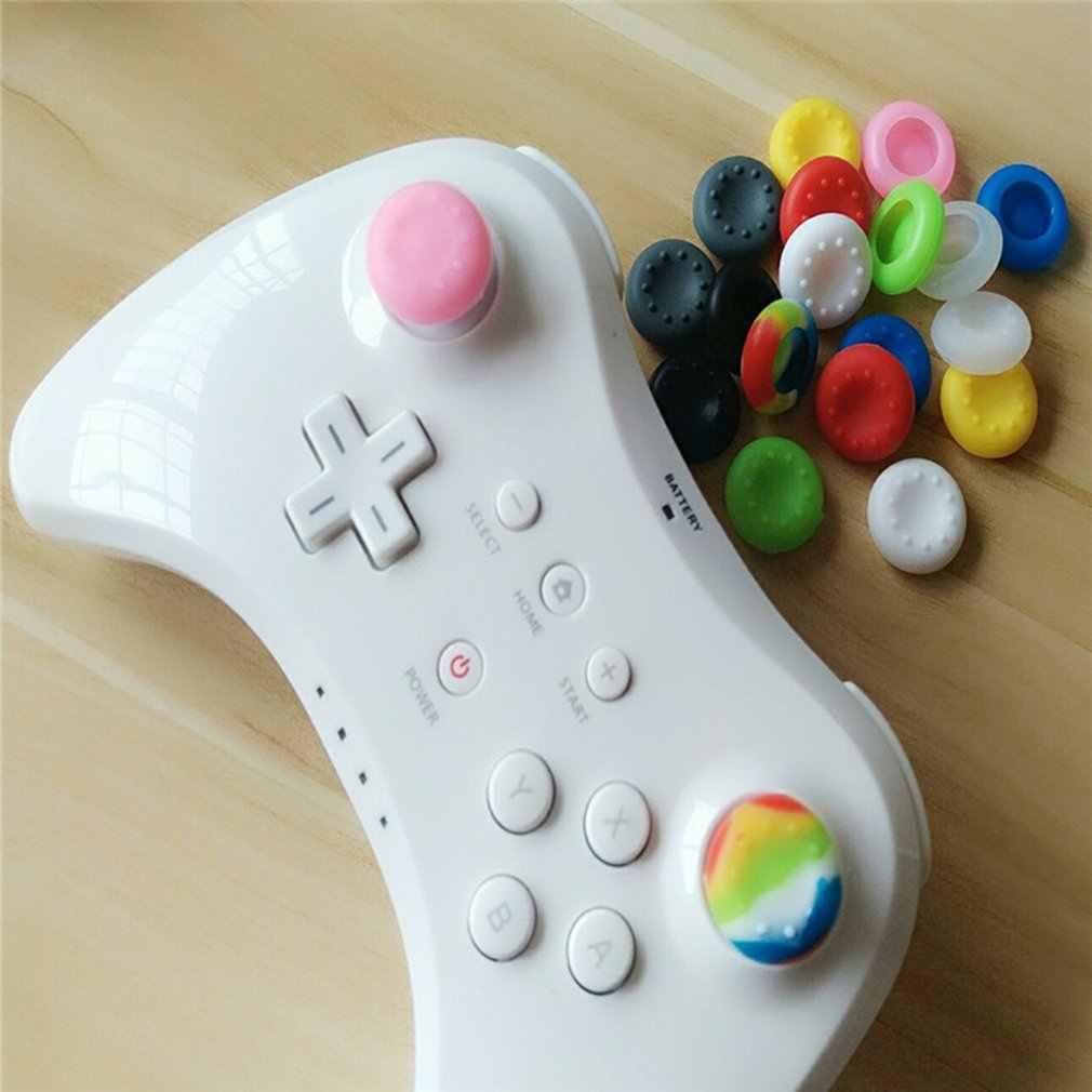 Yumuşak silikon jel Thumb çubuk kavrama kap Gamepad Joystick kapak oyun denetleyicisi için