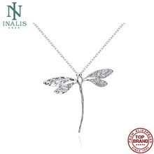 Inalis moda banhado a prata colar criativo libélula mulher colar romântico aniversário festa presente tendência jóias 2021