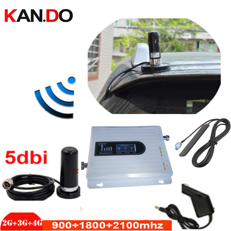 For Car 2G 3G 4G Triband GSM 900 1800MHZ 2100MHZ Booster Repeater 4g Repeater 3G Gsm Repeater GSM BOOSTER 4G Band 3 Lte