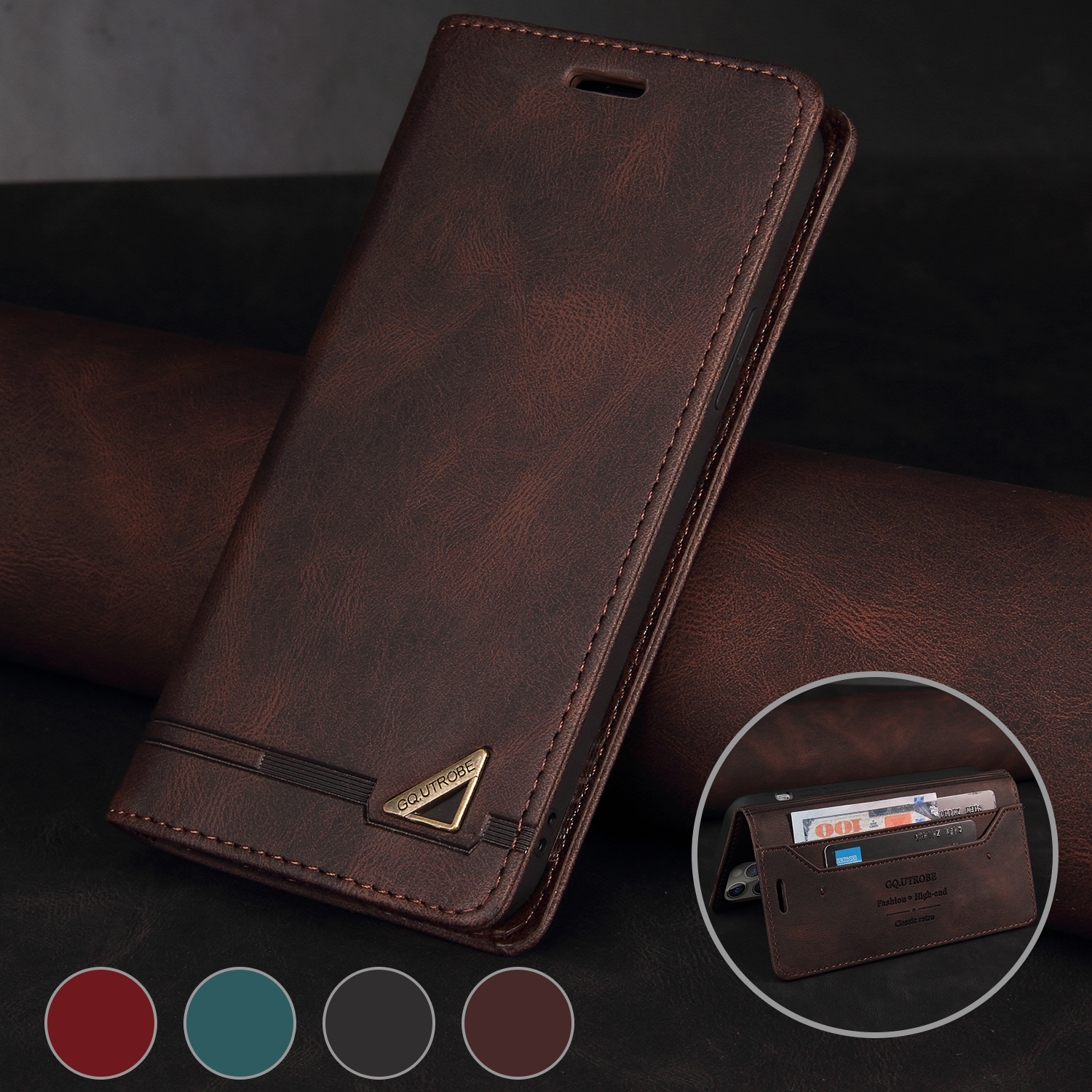 Wallet RFID Blocking Protect Leather Case For Samsung Galaxy Note 20 Note 10 Pro S21 S20 FE S10 S9 S8 Plus Ultra Flip Phone Case