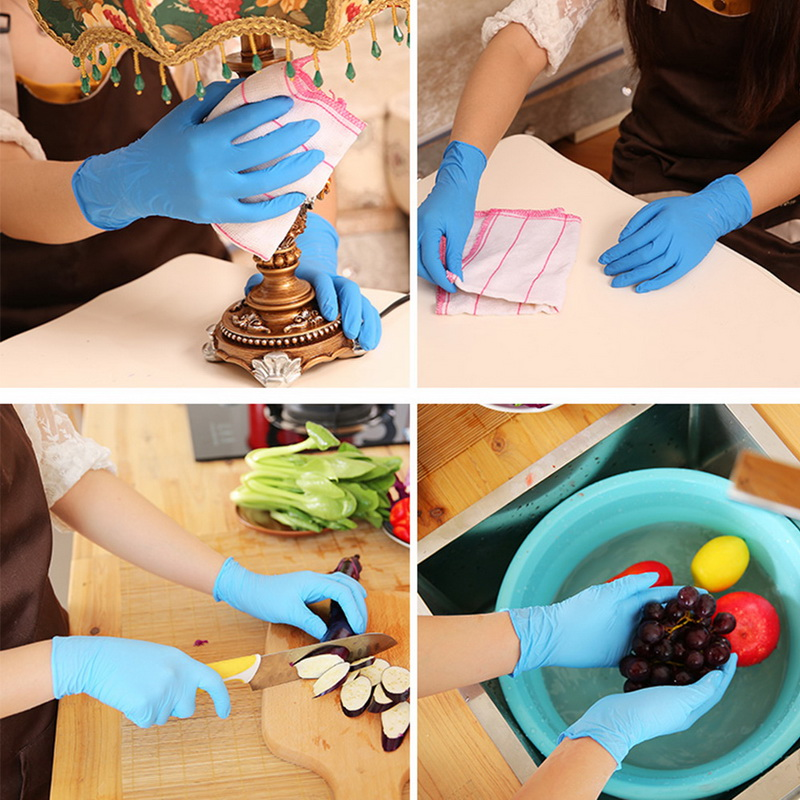 100 Pcs Per Box Disposable Gloves Thickened Nitrile Material To Prevent Direct Contact Household Latex Food Non-slip