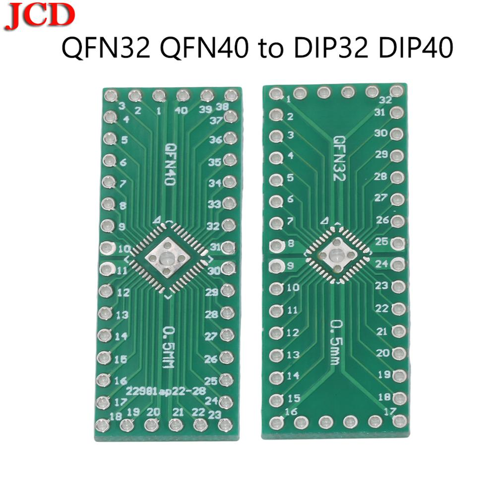 JCD Pinboard QFN32 QFN40 to <font><b>DIP32</b></font> DIP40 0.5MM adapter Socket Adapter plate PCB QFN32 / QFN40 adapter plate / SMD DIP switch DIP image