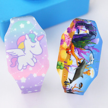 New Luminous Unicorn Child Watches For Girl Ocean World LED Watch Kids Student Electronic
