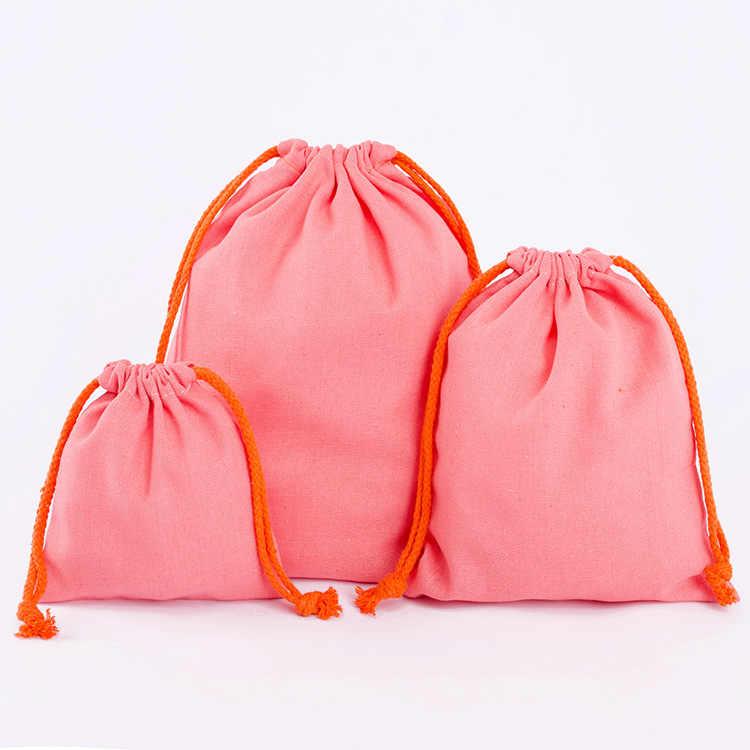 Mode Frauen Tragbare Kordelzug Taschen Bunte Handgemachte Baumwolle Leinen Lagerung Paket Tasche Kleine Geldbörse Mädchen Travel Pouch