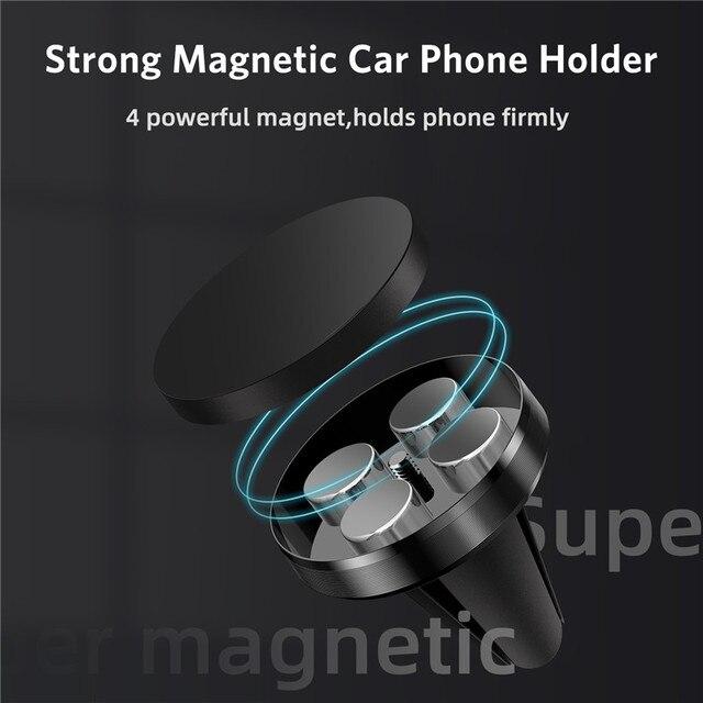 GTWIN Magnetico Supporto Del Telefono Dell'automobile per il Telefono Cellulare in Auto Supporto Del Telefono per il iPhone 11 Samsung Xiaomi Air Vent Clip smartphone Stand 4