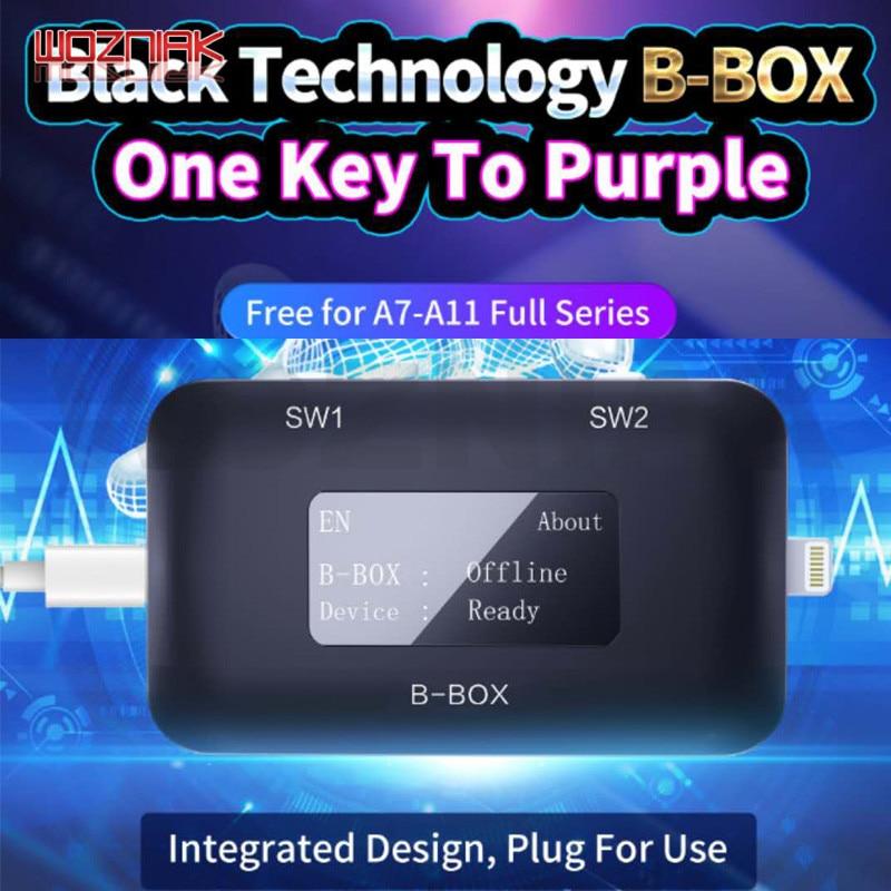 Jc C3 B-BOX Dfu Voor Harde Schijf Lezen Schrijven Veranderen Sn Voor Iphone A7 A8 A9 A10 A11 Programmering Ipad voer Paars Screen